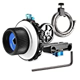 Neewer A-B Stop Follow Focus C2 with Gear Ring Belt for DSLR Cameras