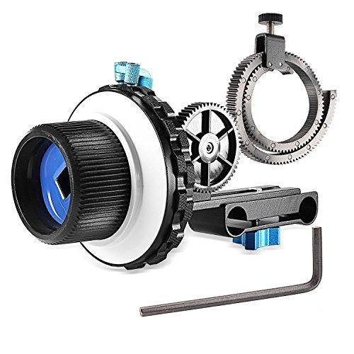 Neewer® A-B Stop Follow Focus C2 con Ruota Dentata per Fotocamera DSLR come Nikon,Canon,Sony