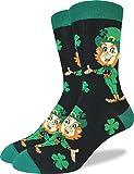 Good Luck Sock Men's St. Patrick's Day Leprechaun Socks - Green, Shoe Size 7-12