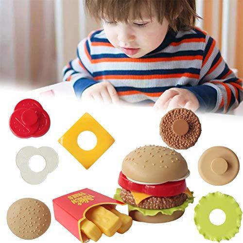 BSTQC Niños Que Hagan de estimulación del alimento Juguetes Juguetes Cocina del Conjunto Realista de simulación Durable de Comida rápida Modelo para Niños Niños Accesorios de Cocina