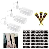 MANGOIT 3PCS Precision Tip Applicator Squeeze Bottles, Multifunctional Application Plastic Bottle for Henna Cone, Tattoo Ink/Gel, Body Art Painting, Temporary Tattoo Kit