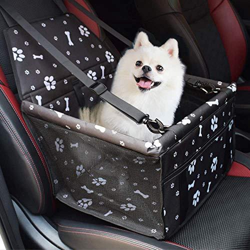 PETEMOO Asiento del Coche de Seguridad para Mascotas Perro Plegable Lavable Viaje Bolsas y Otra Mascota Pequeña con Cremallera Bolsillo