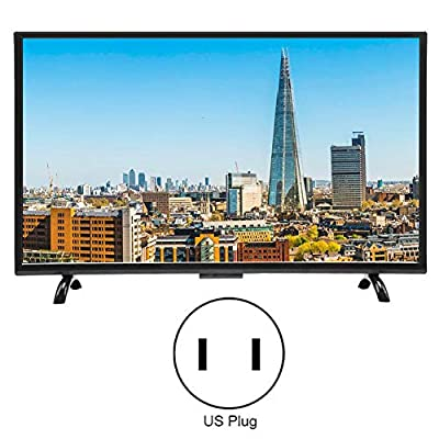 ASHATA 43inch Large Curved Screen Narrow Border Television,3000R Curvature Smart 4K HDR HD TV Support Artificial Intelligence Voice, Network Version 110V(US)