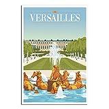 Vintage-Poster, Reise, Versailles, Schlafzimmer,