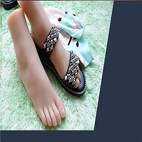 Torso Silikon-Mannequin Fuß Mannequin Fuß Sketch Fuß Fetisch 33 Yards 1 Paar weiblich 0328