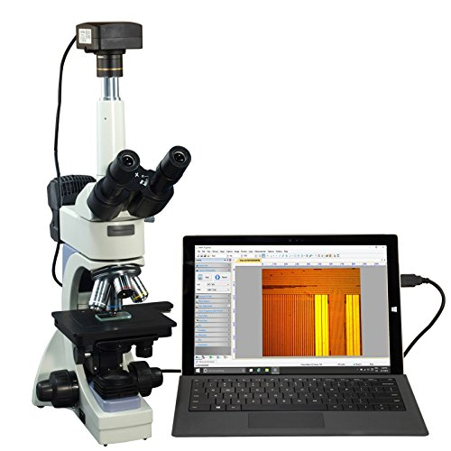 OMAX 40X-2500X USB3 18MP Infinity Trinocular Metallurgical Microscope + Transmitted/Reflected Light