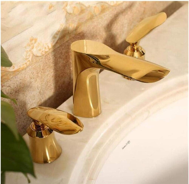 Faucet Art Design Dual Handle Three Holes Mixer Faucet
