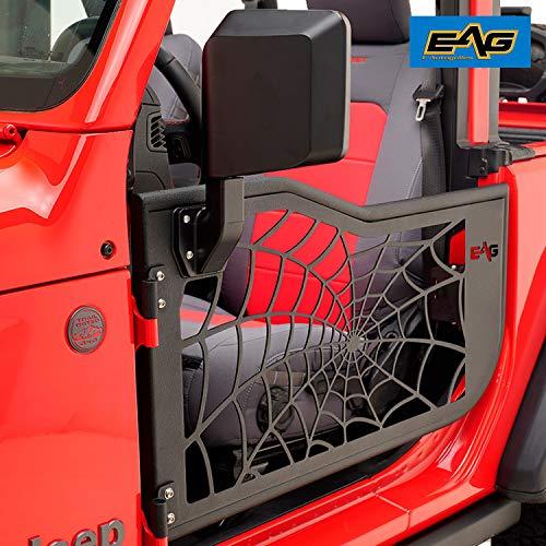 Price comparison product image EAG Spyder Web Tubular Door with Mirror Fit for 18-20 Jeep Wrangler JL 2 Door