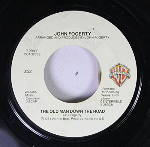 JOHN FOGERTY 45 RPM THE OLD MAN DOWN THE ROAD / BIG TRAIN FROM MEMPHIS
