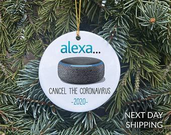 Amazon Alexa Inspired Christmas Ornament, Holiday Ornament, Christmas Ornament 2020, Shopper Christmas Ornament, Amazon Christmas Ornament