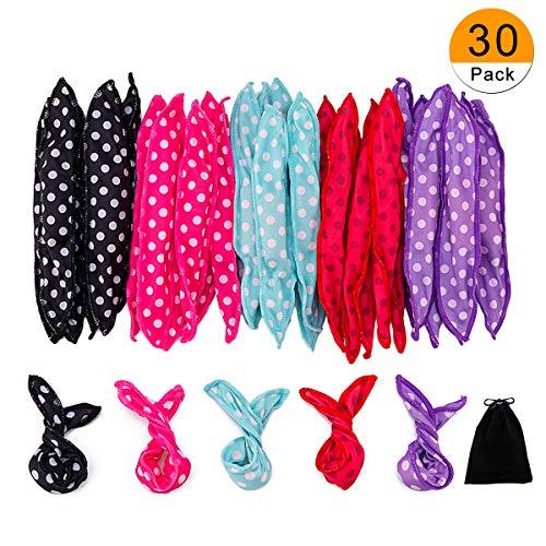 30 Pieces Hair Curler Rollers DIY Night Sleep Foam Hair Styling Tools...
