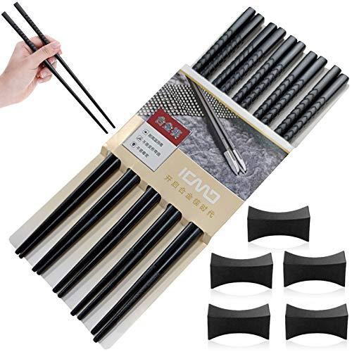 palillos chinos,Palillos chinos de aleación,Palillos chinos reutilizables,Palillos negros de aleación,Palillos reutilizables,Palillos de fibra de vidrio (A)