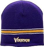 Vikings Team Script Skull Knit Hat Purple