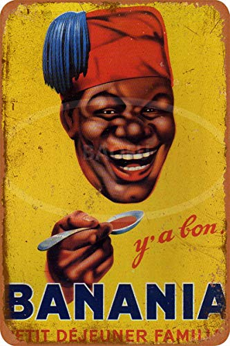 Wild boy BANANIA Petit Dejeuner Familial Ancien Rétro La publicité métal étain Personnage Mur Plaques de Original café Bar Pub Carnaval