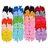 40pcs 3,5 Zoll Baby Mädchen Haarschleifen Krokodilklemmen Nylon Windrad Haarspangen für Babys Kinder Kleinkinder Teenager Geschenke in Paaren