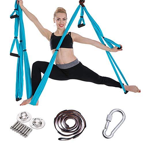 6-handgreep Yoga Hangmat, Anti-zwaartekracht Antenne Yoga Hangmat Set, Omgekeerde Stretch Yoga Stretchgordel, Compleet Met Ophangplaat En Verlengband
