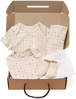 WithOrganic Newborn Gift Set | 100% Organic Certified Cotton | 5 Luxury Pieces | for Baby Boy or Girl
