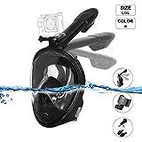 DOBEE Tauchmaske, Faltbare Schnorchelmaske Tauchermaske Vollgesichtsmaske, Anti-Fog Anti-Leak 180°...