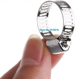 """Paul My 10Pcs/lot Stainless Steel Adjustable Drive Hose Clamp Fuel Line Worm Clip 3/8""""-1/2"""" MAR17_25 100% New"""