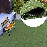 TAPISO Pelouse Synthétique Tapis d'Extérieur Gazon Balcon Terrasse Jardin Vert Poil Court Résistant au Mètre 400 x 600 cm