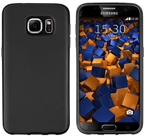 mumbi Hülle kompatibel mit Samsung Galaxy S7 Handy Case Handyhülle, schwarz