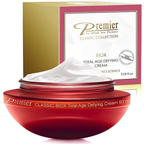 Premier Dead Sea BIOX total age defying cream, face moisturizer, Anti Aging face Cream, Intensive Wrinkle cream firming skin care, Classic collection, retinol Cream Lotion 2.04 Fl.Oz