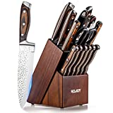 KCJOY Knife Set, 16-Piece Premium Japanese knife Stainless Steel...