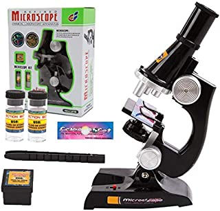 Science kits for kids microscope Beginner Microscope Kit 100X, 200x, and 450x Magnification kids science explore Toys,black