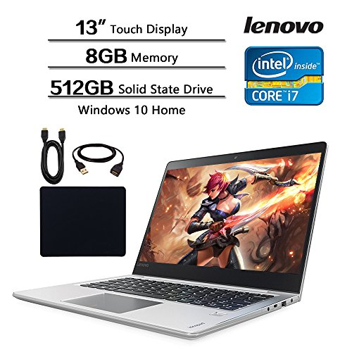 Lenovo 13.3 Touchscreen Gaming Laptop, 13.3' FHD (1920 x 1080) IPS Display, Intel i7-7500U (Up to 3.5GHz), 8GB RAM, 512GB SSD, NVIDIA GeForce 940MX, Backlit Keyboard, Win 10 W/29.99 Valued Accessories