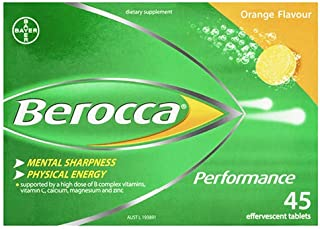Berocca Orange Effervescent Tablets 45-Count
