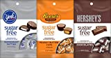 Hershey's Sugar Free Bundle of Reese's, York, and Hershey Chocolate 3 Ounce Bag (3 Pack)