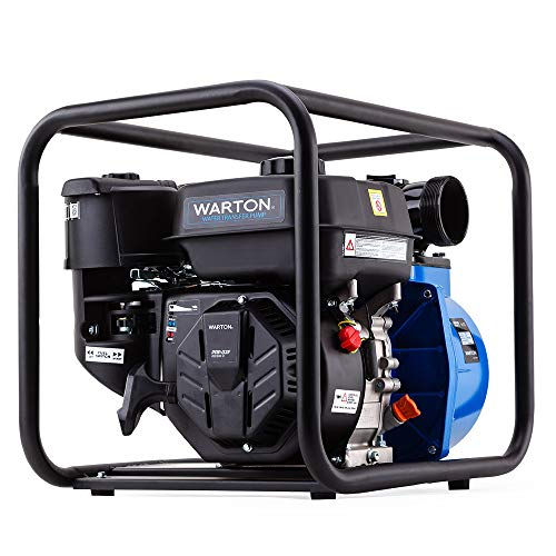 Warton 8HP 235cc 3 Inch Petrol High Flow Water Transfer Pump