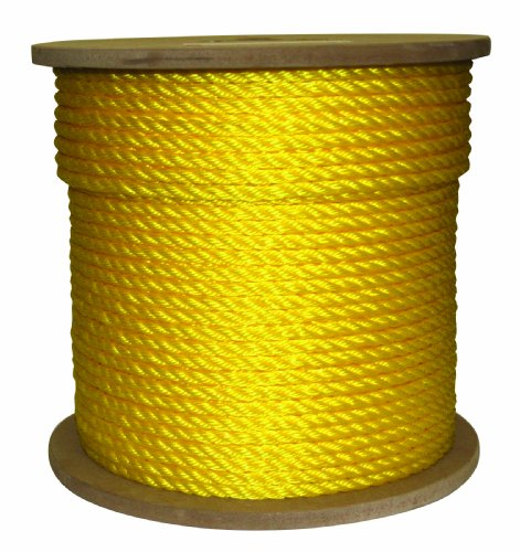 Rope King TP-38600Y Twisted Poly Rope - Yellow 3/8 inch x 600 feet
