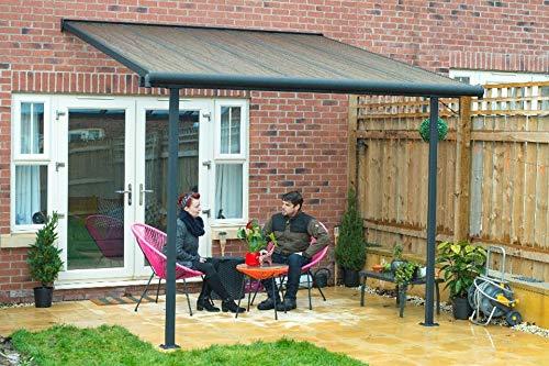 Hochwertige ALU Terrassenüberdachung/Veranda - 300 x 300 (BxT) / Überdachung Palram Sierra Grau