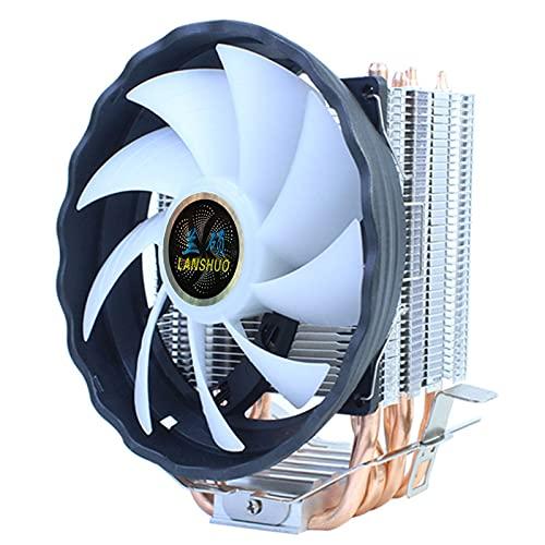 BOXIANGY 6 Copper Tube CPU Radiator Ultra-Quiet I3 I5 I7 I9 Desktop Computer CPU Fan AMD 1366 X58 9 cm 6 Tube 3 Line 12 cm no Light