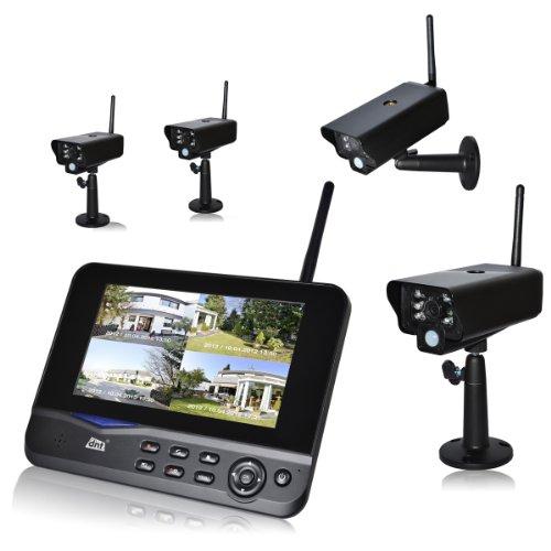 dnt QuattSecure Profiset - Sicherheitssystem mit 4 Funk-Überwachungskameras