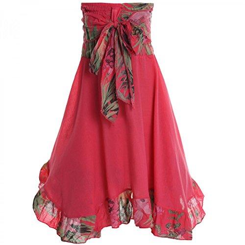 BEZLIT Mädchen Kinder Spitze Kleid Peticoat Fest Sommer-Kleid Kostüm 20424 Rot Größe 128