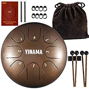 Yinama Steel Tongue Drum Percussion Instrument 8 Notes 6 inches