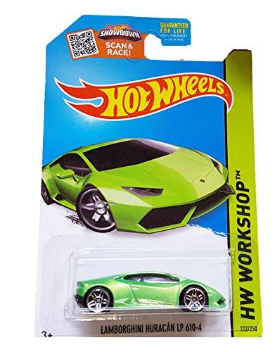 2015 Hot Wheels Hw Workshop: Lamborghini Huracan LP 610-4 (Green) by Mattel