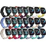 Mocodi 21 Pack Bands Compatible with Fitbit Sense/Fitbit Versa 3 Bands,Soft TPU Sport Replacement Wristband Accessories Women Men for Fitbit Sense/Versa 3 SmartWatch