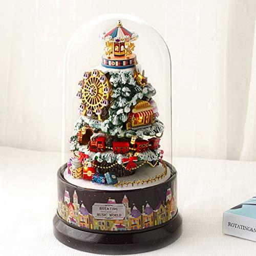 LanLan Decorazioni Natale,Idee Regalo Capodanno/Pasqua/Ognissanti,Music Dollhouse Rotating Cabin...