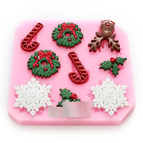 Anyana Creative pastel navidad que adorna el molde Candy Silicone Mold for Sugarcraft, Cake Decoration