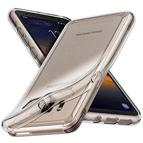 Aeska Schutzhülle für Galaxy S8 Active, ultradünn, flexibles TPU-Gel, Gummi, weiche Silikon-Schutzhülle für Samsung Galaxy S8 Active (transparent)