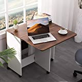 Vonanda Folding Dining Table, Foldable Desk with 6 Wheels for Small Room Apartment, Drop Leaf Tables...