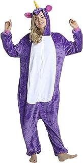 Fantasia Pijama Cosplay de Unicórnio Roxo com Capuz Original
