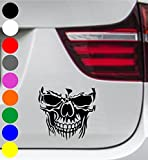 wDesigns 2er Set Autoaufkleber Totenkopf Skelett Skull SCHÄDEL Aufkleber Tuning Decal