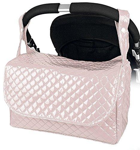 Bolso Carrito Bebe Maternidad Lactancia Plastificado Color rosa