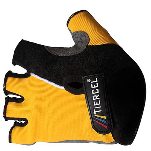 IRISMARU Bicycle Half Finger Gloves Mountain Bike Cycling Gloves Yellow