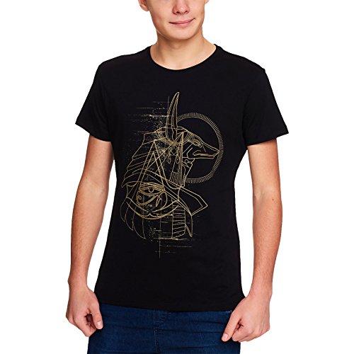 T-shirt Anubis Origini Logo cotone nero Assassins Creed Uomo - L