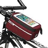 自転車トップチューブバッグマウンテンバイクバッグサドルバッグフロントバッグロードバイク自転車バッグ,赤